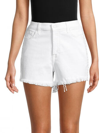 7 For All Mankind Women s Distressed Denim Shorts e5185