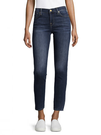 7 For All Mankind Women s Gwenevere Washed Jeans e5189