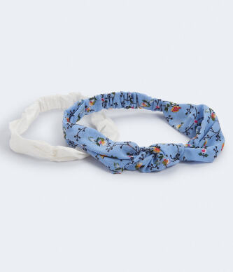 Aeropostale Women s Floral and Solid Headband 2 Pack e513