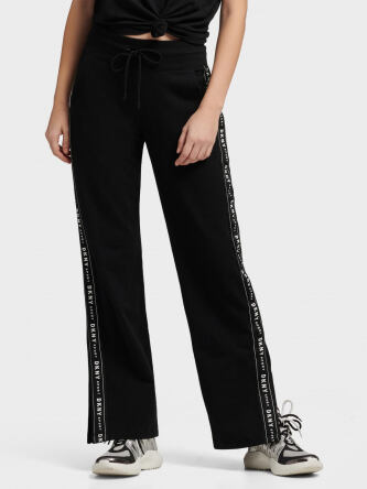 DKNY Women s Side Slit Track Pants With Logo Taping e569