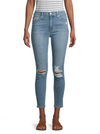Joe s Jeans Women s High Rise Distressed Cropped Skinny Jeans e5185