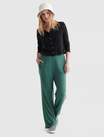 Lucky Brand Cloud Jersey Wide Leg Cropped Pant e569