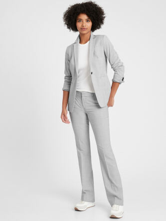 Petite Long and Lean Fit Washable Wool Blend Blazer e5199