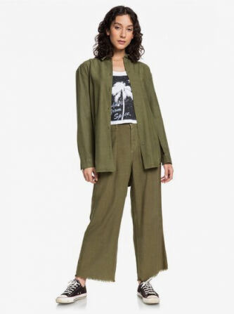 Quiksilver Womens Cropped Flared Lined Trousers e565